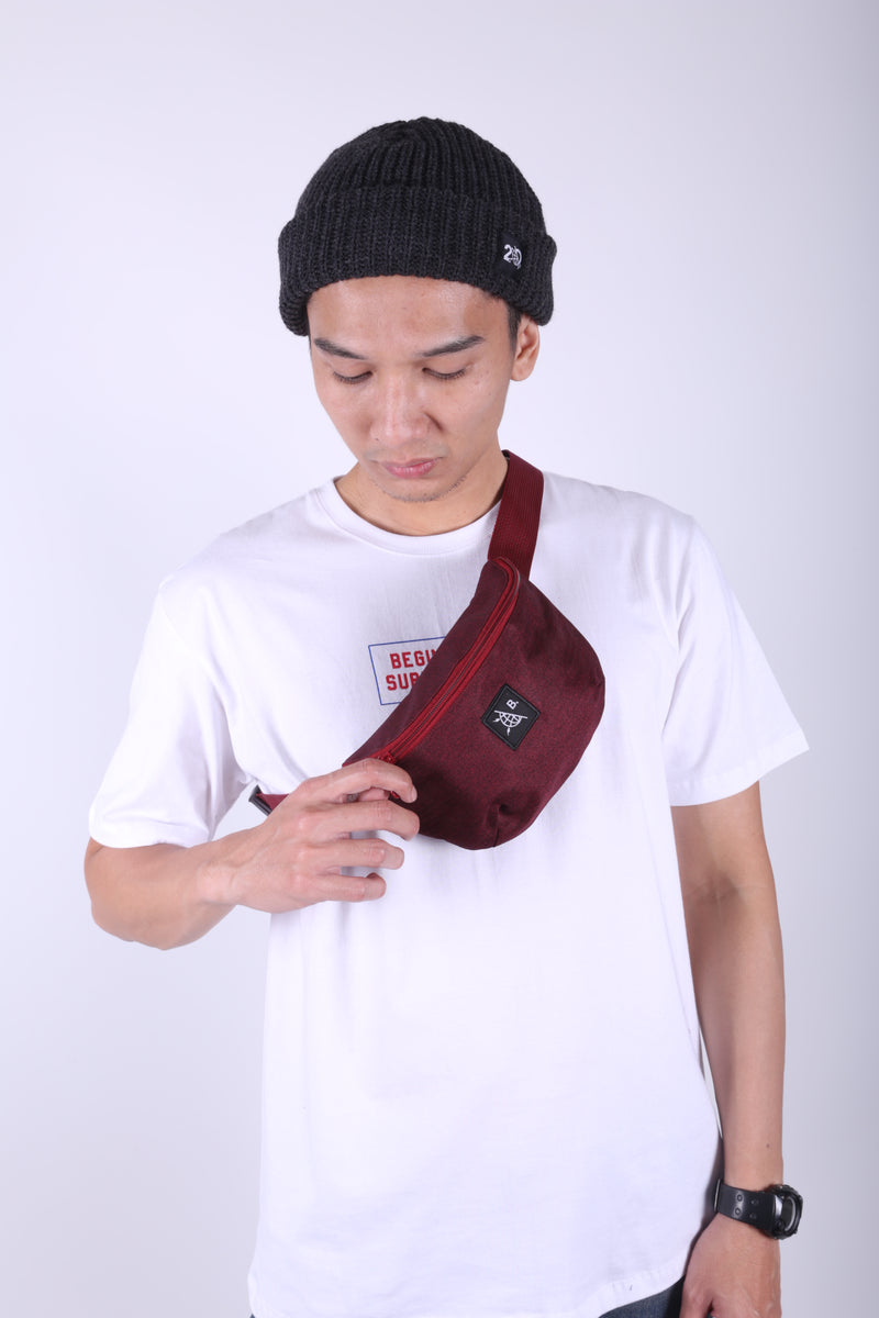 LITFAX MAROON FANNY PACK - Badger Invaders