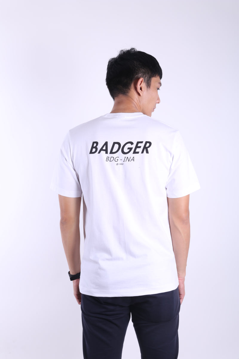 COPYRIGHT WHITE BASIC TSHIRT - Badger Invaders