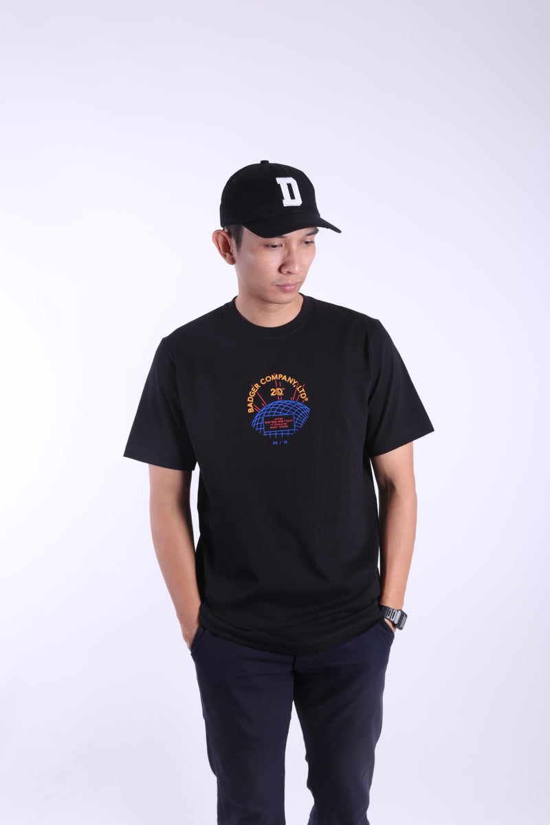 WORDGEO BLACK BASIC TSHIRT