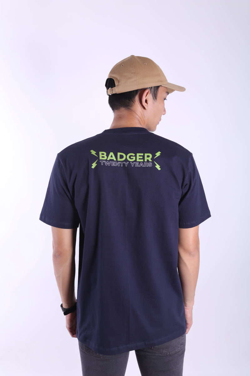 HQ NAVY BASIC TSHIRT - Badger Invaders
