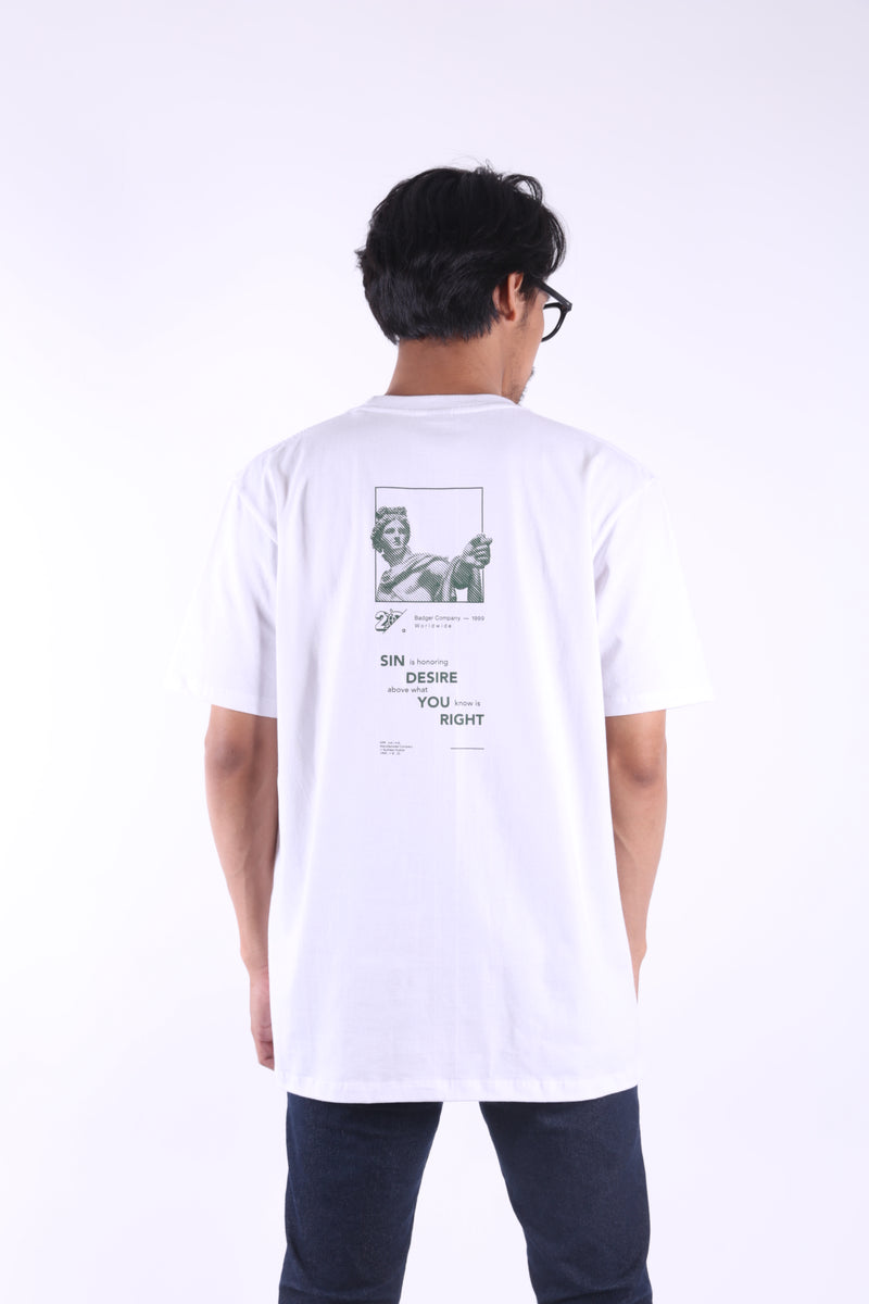 APOLLO WHITE BASIC TSHIRT - Badger Invaders