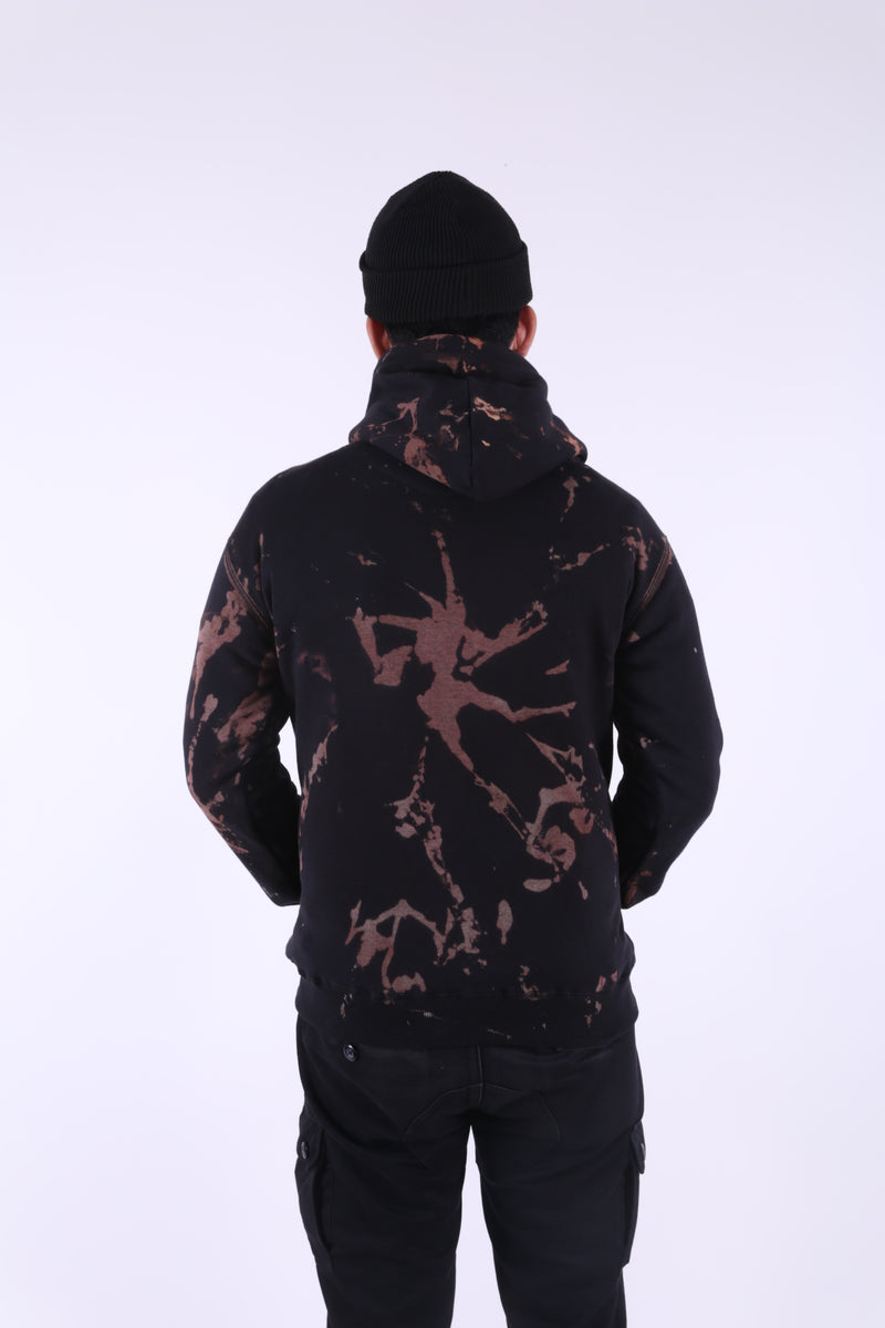 ETON BLACK TIEDYE PULL OVER HOODIE - Badger Invaders