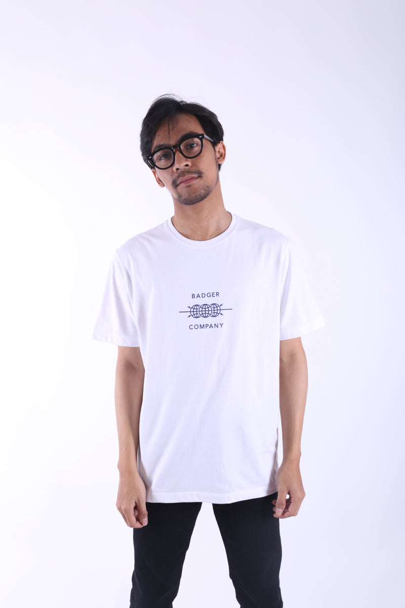 WORLD CO WHITE BASIC TSHIRT - Badger Invaders