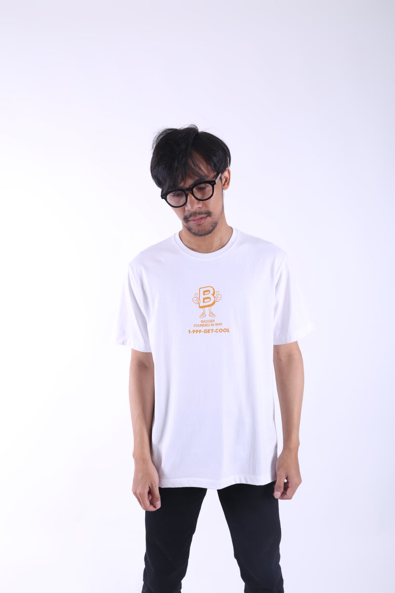 GETCOOL 99 WHITE BASIC TSHIRT - Badger Invaders