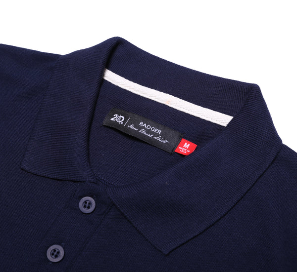 FONTNAS NAVY BASIC POLO SHIRT - Badger Invaders