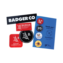 PIN & STICKER PACK - Badger Invaders