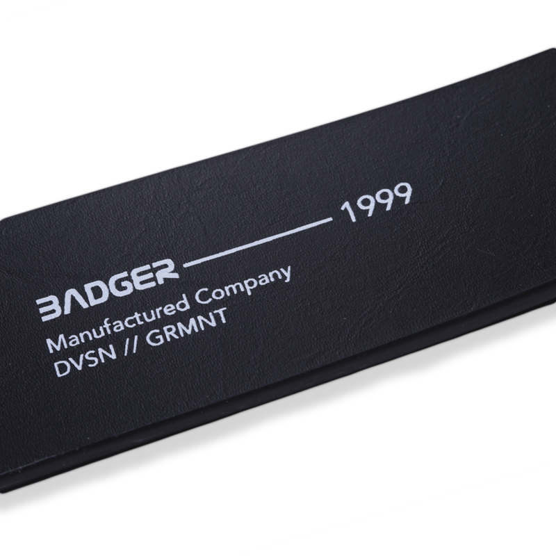 V2 BLACK LEATHER BELT - Badger Invaders