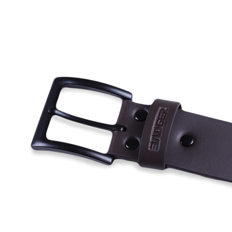 V2 BROWN LEATHER BELT - Badger Invaders