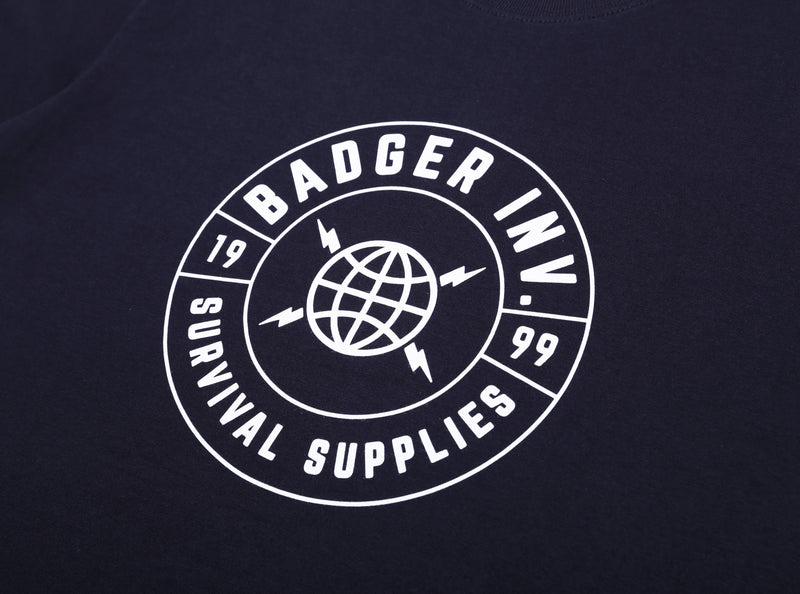BSS 1999 NAVY BASIC TSHIRT - Badger Invaders