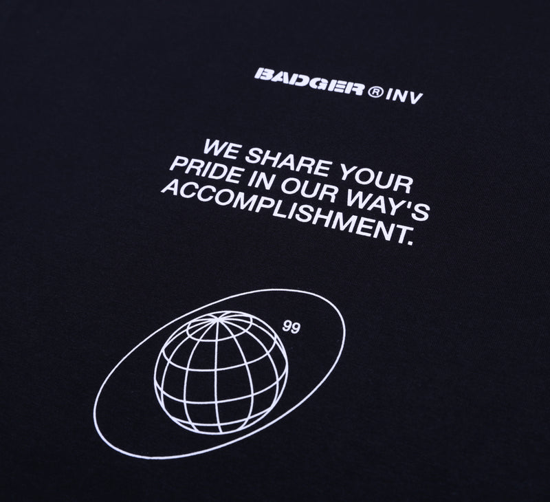 BADGER 2020 BLACK BASIC TSHIRT - Badger Invaders