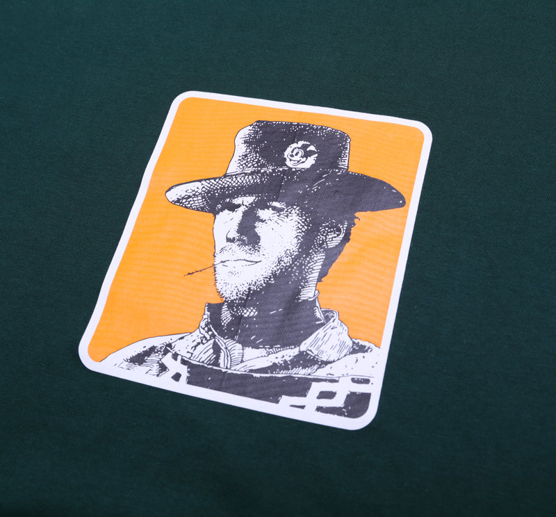 CLINT EASTWOOD X NOSKO GREEN BASIC TSHIRT - Badger Invaders