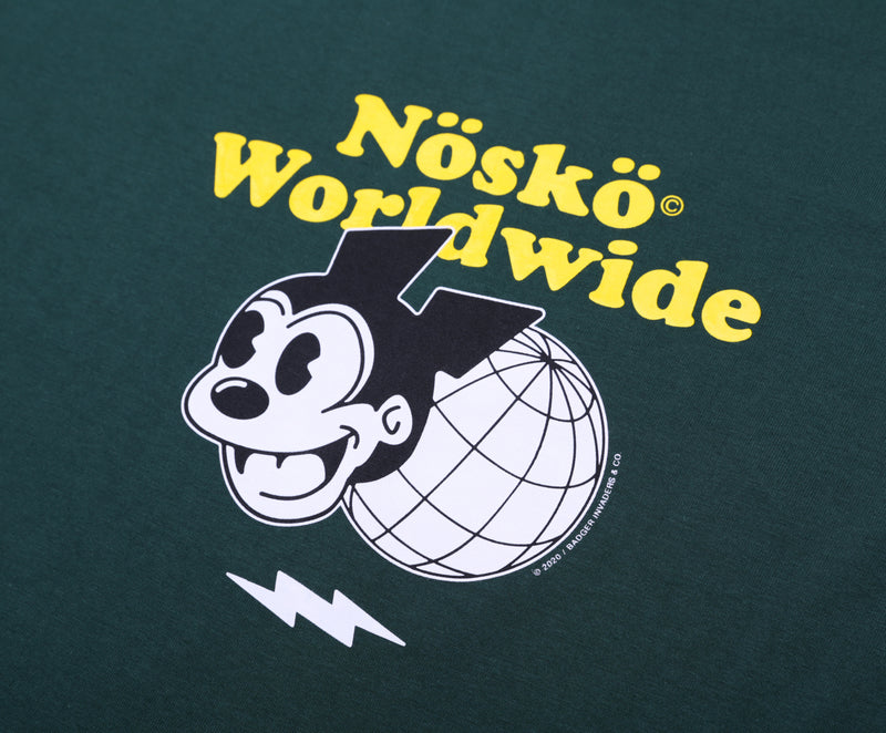NOSKO WORLDWIDE GREEN BASIC TSHIRT - Badger Invaders