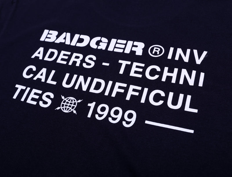 TECHNICAL UNDIFF 2 NAVY BASIC TSHIRT - Badger Invaders
