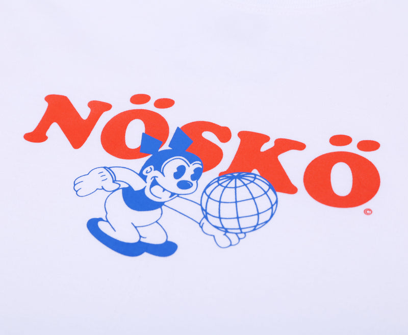 NOSKO HANDLING WHITE BASIC TSHIRT - Badger Invaders