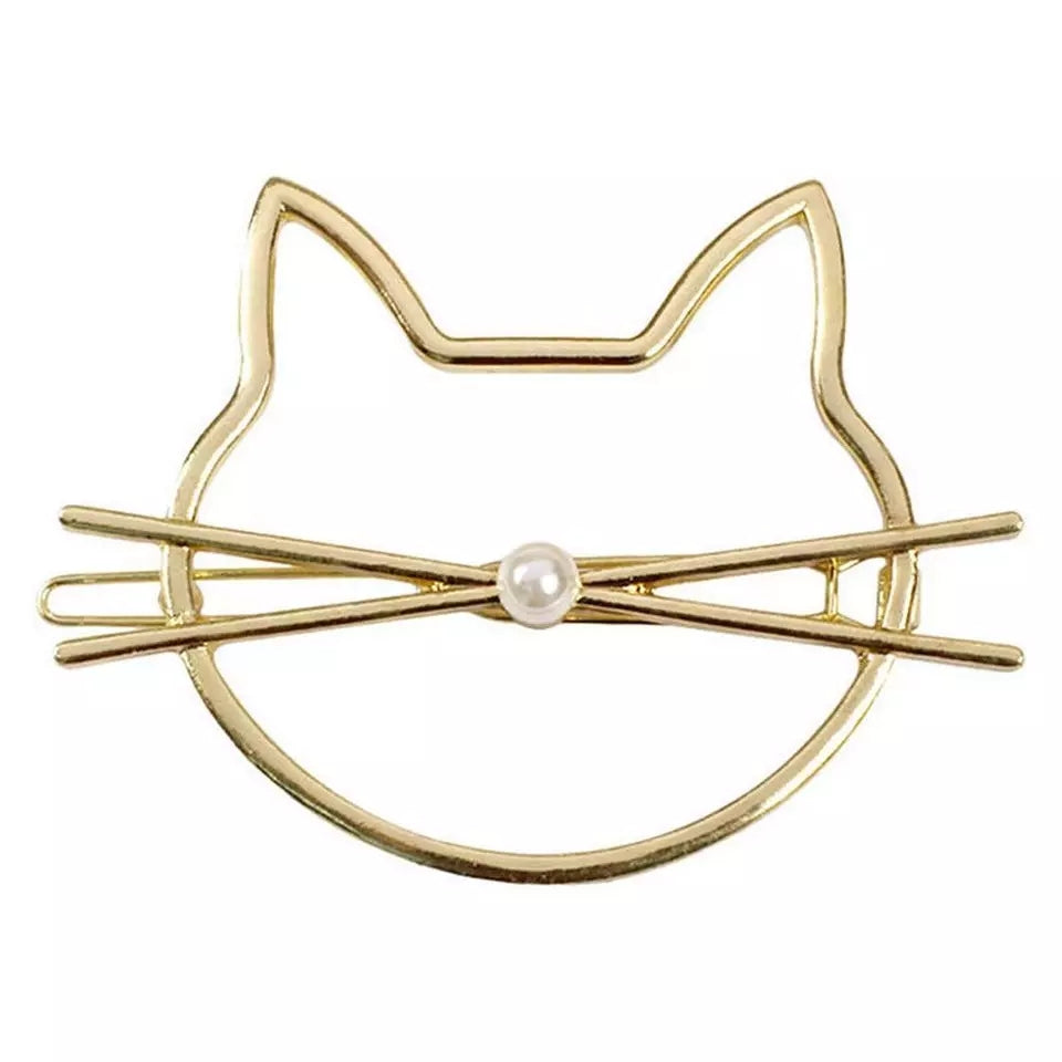 Golden Cat Hair Pin-Mewcatx