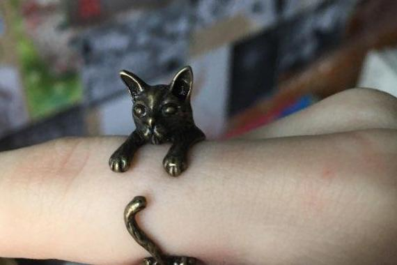 Furious Cat Resizable Ring
