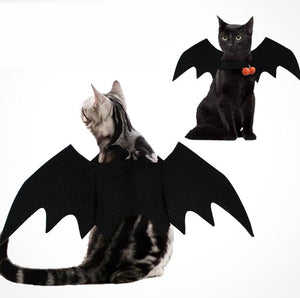 Halloween Pet Dog Costumes Bat Wings Vampire Black Cute Dress Cat Costume Pet Cosplay Clothing Cat Wings Halloween Costume