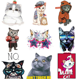 Iron Patches for Clothing Cute Small Animal Cat Unicorn Top Clothing Applications Heat Transfer Stickers DIY Tops Badges Print