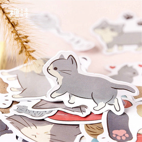40Pcs/lot Cartoon Elegant Cat Stickers For Snowboard Laptop Luggage Car Fridge Car Toy Stickers Gift Beauty