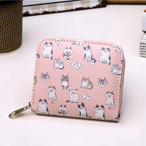 Mini PU Leather Cat Wallets - Mewcatx