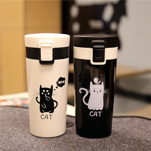Cute Cat Tumbler Thermo Vacuum Flask