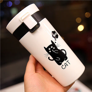 Cute Cat Tumbler Thermo Vacuum Flask-Mewcatx