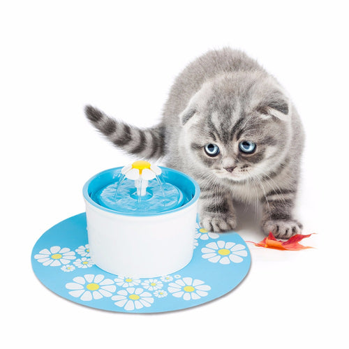 Cat Water Fountain with Anti- Slip Mat - Mewcatx