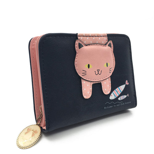 Mini Kitty Handmade Wallet