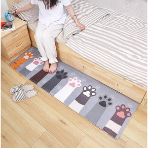 Cat Claw Printed Kitchen Carpet