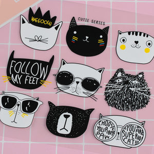 9 Pcs/set Cartoon Cute Cat Face Iron-on Patch 2 Styles Children Clothing Stickers DIY Patch Iron-on Heat Transfers Patch