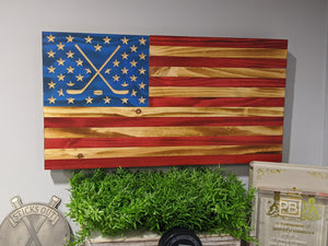 Wooden Hockey Flag