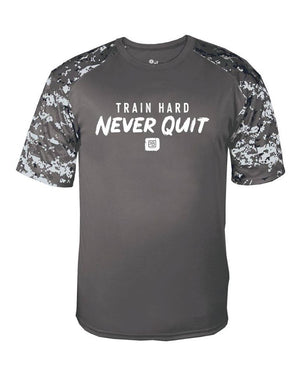 Train Hard - Never Quit Performance Tee