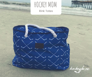 Blue Hockey Mom Rink Tote Bag
