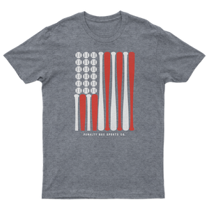 USA Baseball Bat Flag Tee