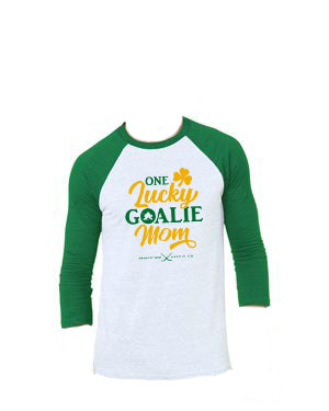 Lucky Goalie Mom Raglan