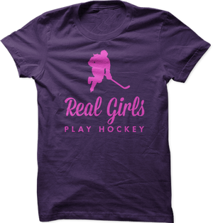 Real Girls Play Hockey Tee