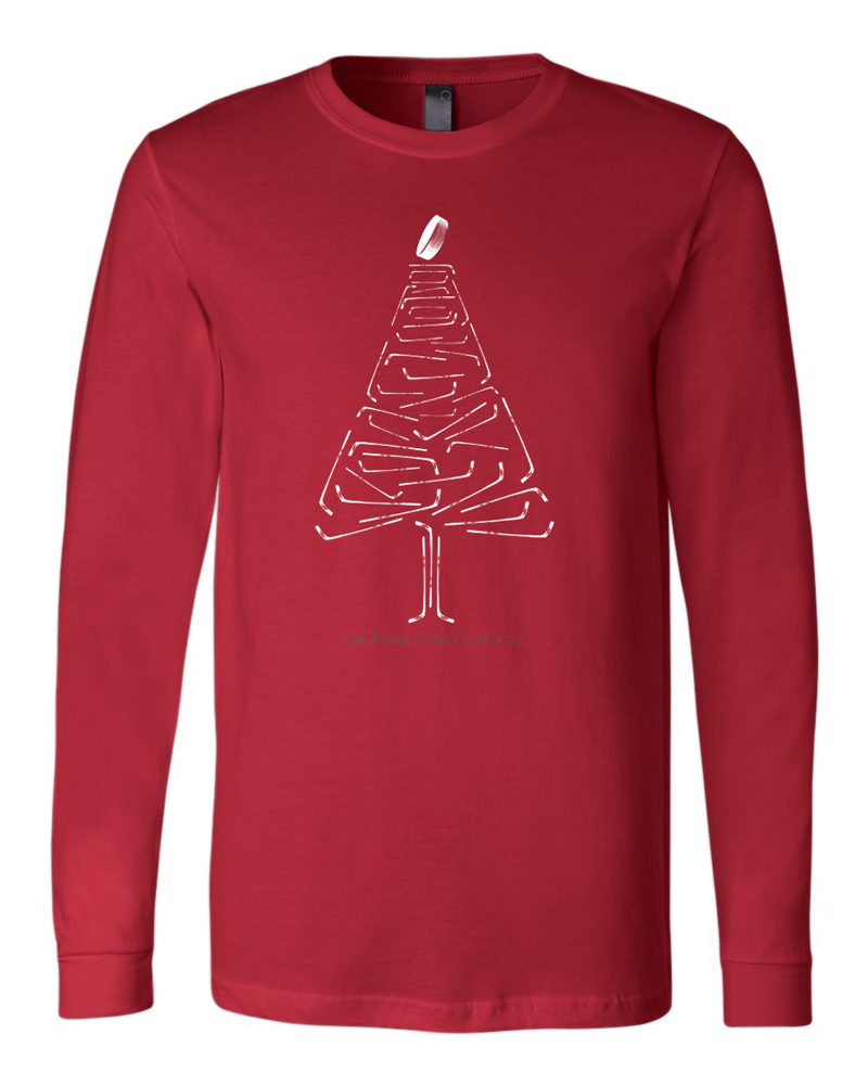 Red Christmas Tree Pajama Shirt