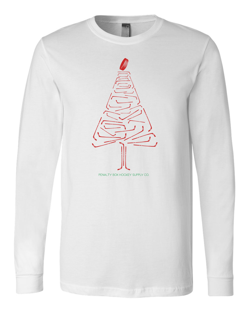 White Christmas Tree Pajama Shirt