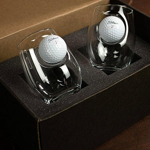 Golf Ball Wine Glasses