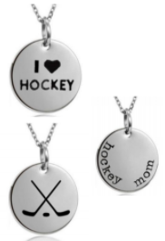 Hockey Mom Pendant Necklaces