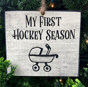 My First Hockey Season Ornament