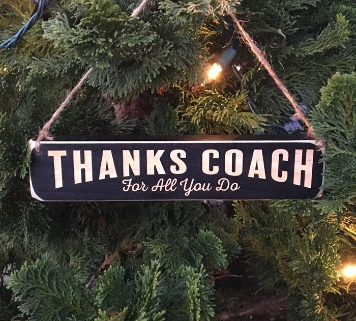 Thanks Coach Ornament