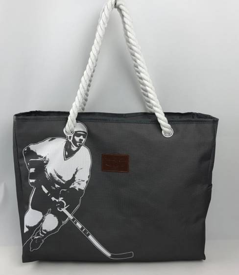 Grey Hockey Mom Rink Tote Bag