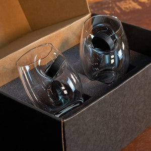 Hockey Puck Wine Glasses