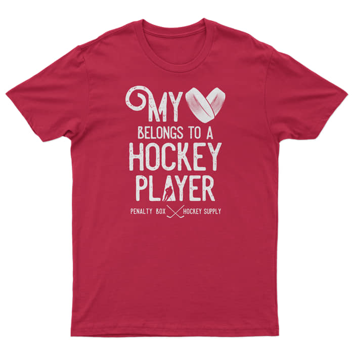 My Heart Belongs To A Hockey Player Tee