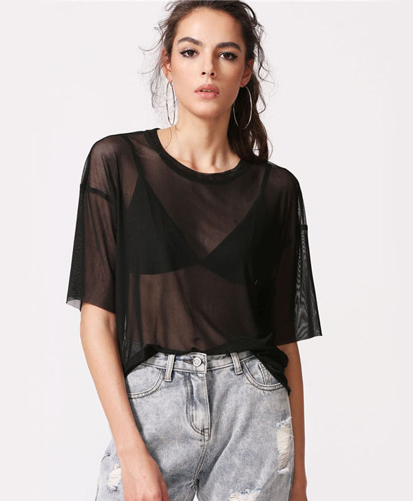Black Thin Blouse