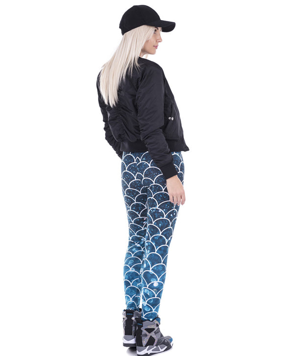 Mermaid Glitter Printed Legging