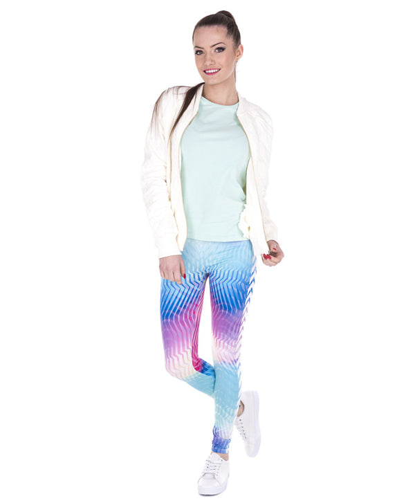 White Arrow Hologrephic Printing Legging