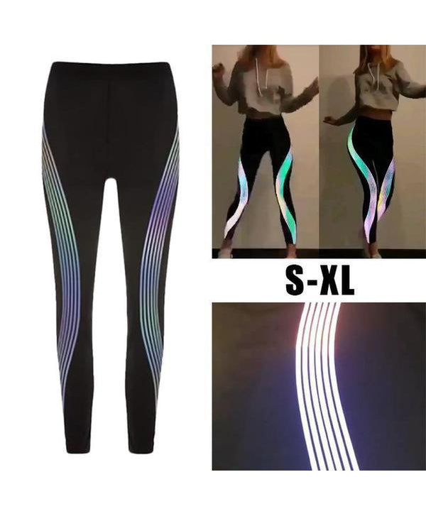 Rainbow Reflective Push up Legging