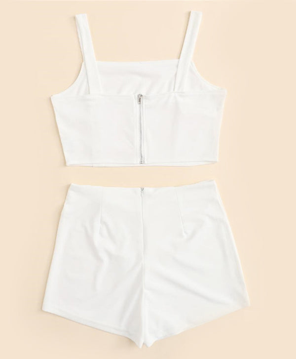 Cami Top With Shorts White